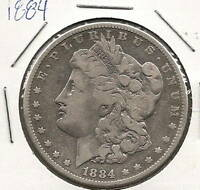 1884 MORGAN DOLLAR : FINE
