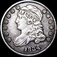 1834 CAPPED BUST DIME TYPE COIN  --- STUNNING   --- D509