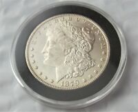 1879-S  MORGAN SILVER DOLLAR / HIGH GRADE AU/ GREAT COLOR & DETAIL / SHIPS FREE
