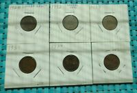 CANADA ONE CENT CIRCULATED CANADIAN  LOT OF 6 1928, 1932, 1933, 2 1939, 1941