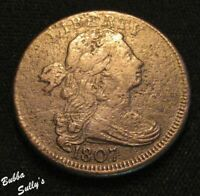 1807 DRAPED BUST LARGE CENT <> S 276 R1 LARGE FRACTION <> F