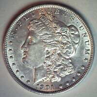 1901 MORGAN SILVER DOLLAR $1 US COIN ALMOST UNCIRCULATED PHILADELPHIA MINTED