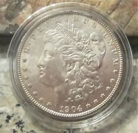 1904-O  MORGAN SILVER DOLLAR / HIGH GRADE AU/ GREAT COLOR & DETAIL