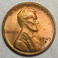 1949-S LINCOLN CENT, CHOICE UNCIRCULATED, FROM ORIGINAL U. S. MINT SET 1001-06