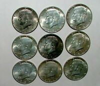1964 90  SILVER KENNEDY HALF DOLLAR COLLECTION OF 9 LOT Q