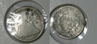 1853 SEATED LIBERTY SILVER HALF DIME INV427 2