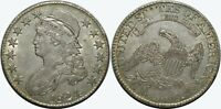 1824 CAPPED BUST HALF DOLLAR   AU   EARLY SILVER U.S. COIN