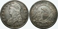 1821 CAPPED BUST HALF DOLLAR   AU DETAILS   EARLY SILVER U.S