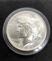 1921 P PEACE DOLLAR HIGH GRADE SILVER COIN CAPSULE