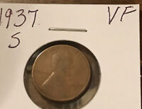 1937-S LINCOLN WHEAT CENT  1019