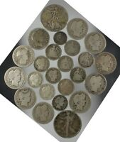 MIXED LOT OLD SILVER COINS HALVES QUARTERS DIMES AND 1/2 DIME $4.15 FACE