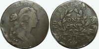 1798 DRAPED BUST LARGE CENT   2ND HAIR STYLE   KM22   HOLE F