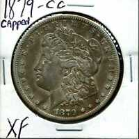 1879-CC $1 MORGAN SILVER DOLLAR IN EXTRA FINE  CONDITION VAM-3 CAPPED DIE 01881