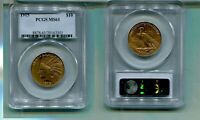 1915 P $10 INDIAN HEAD GOLD COIN PCGS MS61