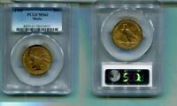 1908 P WITH MOTTO $10 INDIAN HEAD GOLD COIN PCGS MS61