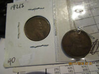 1921 P-S LINCOLN CENTS  VF/EXTRA FINE