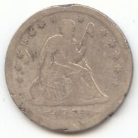 1855 S ARROWS SEATED LIBERTY QUARTER SCARCE S MINT G DETAILS