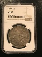1899 P MORGAN SILVER DOLLAR NGC MINT STATE 63  SPECIAL UNIQUE EXAMPLE LOOKS PL