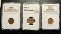 3X 1946-S LINCOLN WHEAT CENT NGC MINT STATE 66RD MINT STATE 66 RD 3 COIN LOT