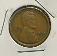 1918-D LINCOLN WHEAT CENT EXTRA FINE