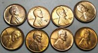 1934-D 1935-D 1936-D 1937-S 1938-S 1939  LINCOLN CENT GEM BU CONDITION  J014