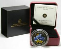 CANADA 2010  BLUE JAY COLOURED OVER SIZED 25 CENT COIN RCM PACK.