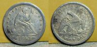 1853 SEATED LIBERTY QUARTER 25C GREAT DETAILS SCRATCHES