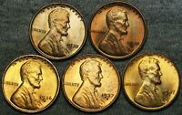 1930 1930-S 1936-D 1937-S 1947-S LINCOLN CENT GEM BU CONDITION LOT ---- J203
