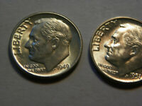 1949, 1951  MERCURY DIME IN UNCIRCULATED  CONDITION