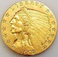 1908 $2.50 INDIAN HEAD GOLD PIECE