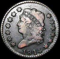 1814 CLASSIC HEAD LARGE CENT PENNY  ----  TYPE COIN  ----  J262