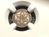 1851 3 CENT SILVER NGC 62 UNC.  ORIGINAL COIN COULD HAVE GRADED HIGHER
