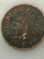 1907 INDIAN HEAD CENT - 100 YEAR OLD PENNY -US COPPER TYPE - ACTUAL SHOWN 18F