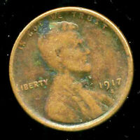 1917 S WHEAT CENT KEY DATE US CIRCULATED ONE LINCOLN  1 CENT U.S COIN 1502