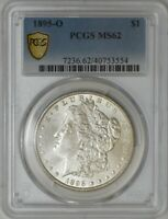 1895-O MORGAN DOLLAR $ MINT STATE 62 PCGS SECURE 941228-34