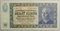 1939 SLOVAK STATE 10 KORUN NOTE SPECIMEN BILL HIGH GRADE OLD WORLD NOTE