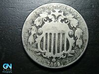 1869 SHIELD NICKEL  --  MAKE US AN OFFER  B9741