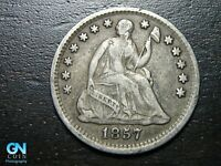 1857 P SEATED LIBERTY HALF DIME --  MAKE US AN OFFER  B9785