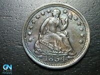 1854 P SEATED LIBERTY HALF DIME --  MAKE US AN OFFER  B9792