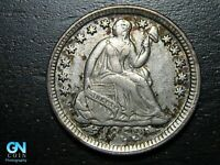 1853 P SEATED LIBERTY HALF DIME --  MAKE US AN OFFER  B9795