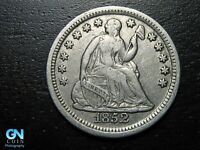 1852 P SEATED LIBERTY HALF DIME --  MAKE US AN OFFER  B9796