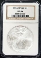 2006 W BURNISHED SILVER EAGLE CERTIFIED MINT STATE 69 BY NGC