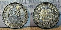 1853 P WITH ARROWS SEATED LIBERTY HALF DIME 5C