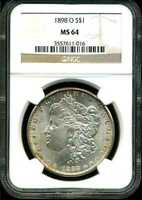 1898-O $1 MORGAN SILVER DOLLAR MINT STATE 64 NGC 3557611-016