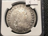 1799 BUST DOLLAR WIDE DATE RARITY 5 NGC VF DETAILS  NOT ON THE MARKET OFTEN