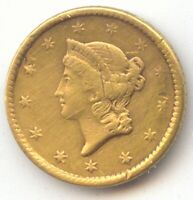 TYPE 1 GOLD DOLLAR NO DATE $1 VF DETAIL EX JEWELRY TRUE AUCT