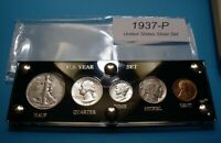 1937 SILVER SET OF U.S. COINS NICE NEAR MINT TO MINT UNCIRCU