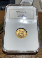 1902 RUSSIA GOLD 5 ROUBLES 5R MS 67 NGC OLD HOLDER