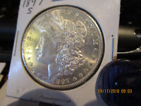 1897-S PROOF LIKE MORGAN DOLLAR MINT STATE