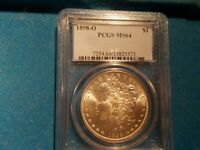 1898-O MORGAN DOLLAR PCGS MINT STATE 64 BLAST WHITE